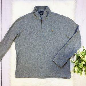 Ralph Lauren Gray 1/4 Zip Up Pullover Sweater